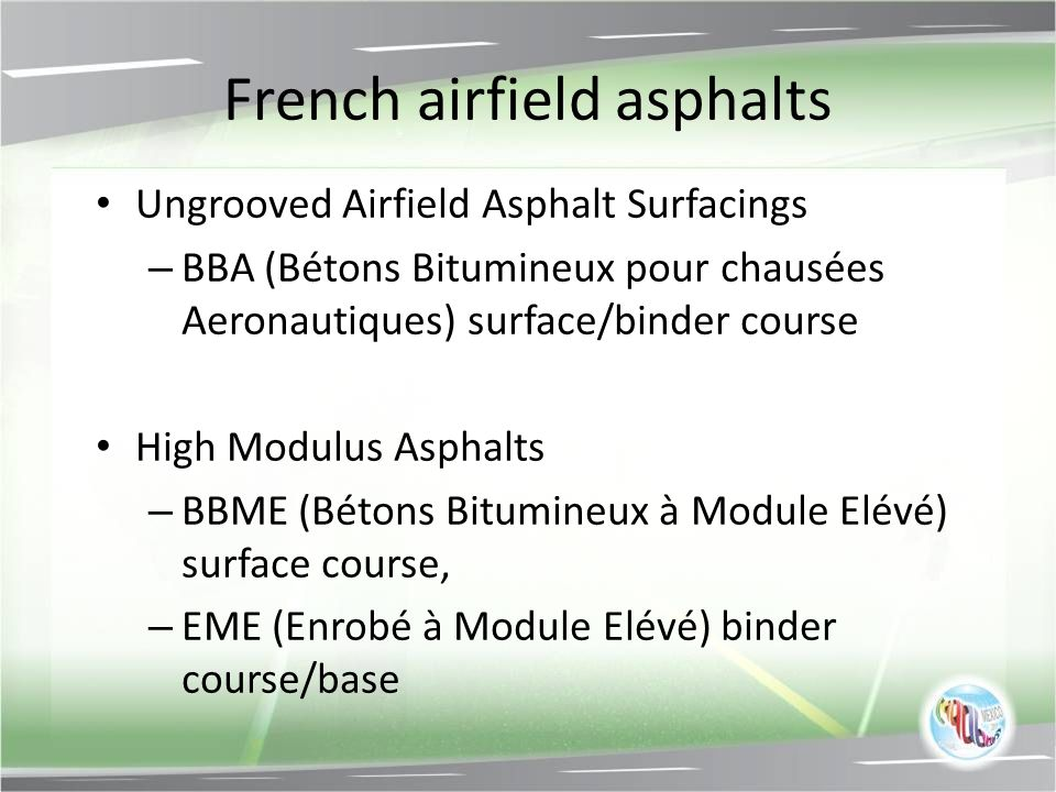French airfield asphalts