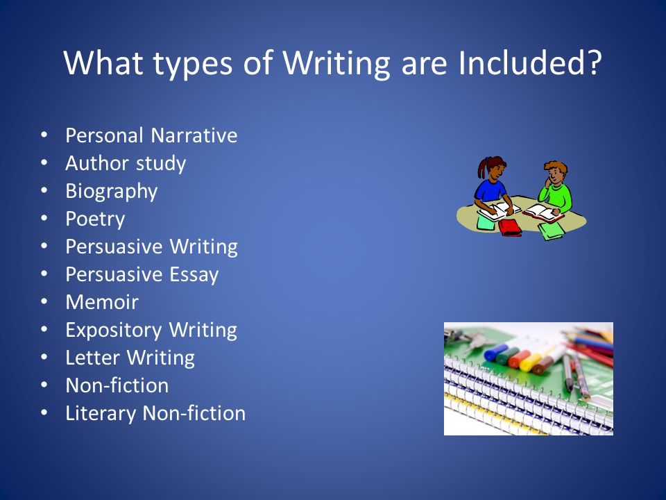 What types of Writing are Included