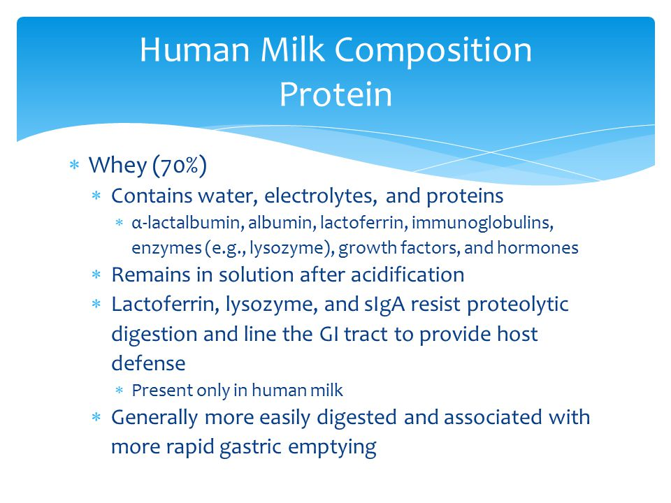 Human Milk Composition Protein