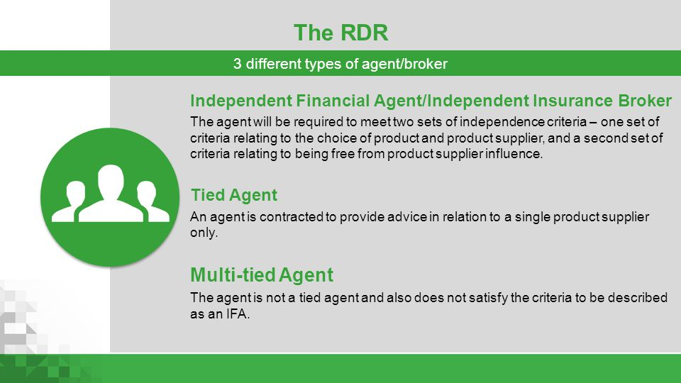 3 different types of agent/broker