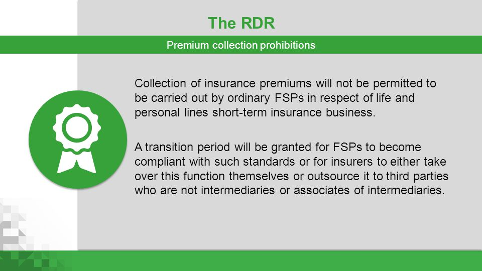 Premium collection prohibitions
