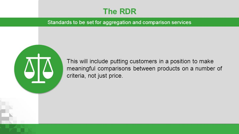 Standards to be set for aggregation and comparison services