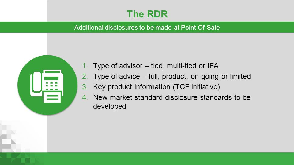 Additional disclosures to be made at Point Of Sale