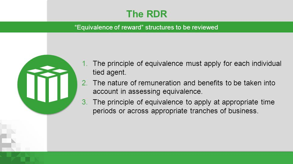 Equivalence of reward structures to be reviewed