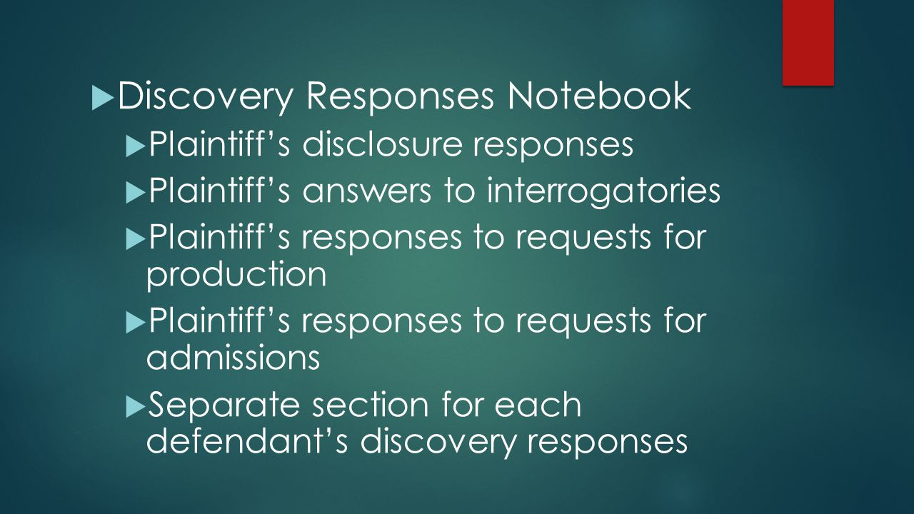 Discovery Responses Notebook