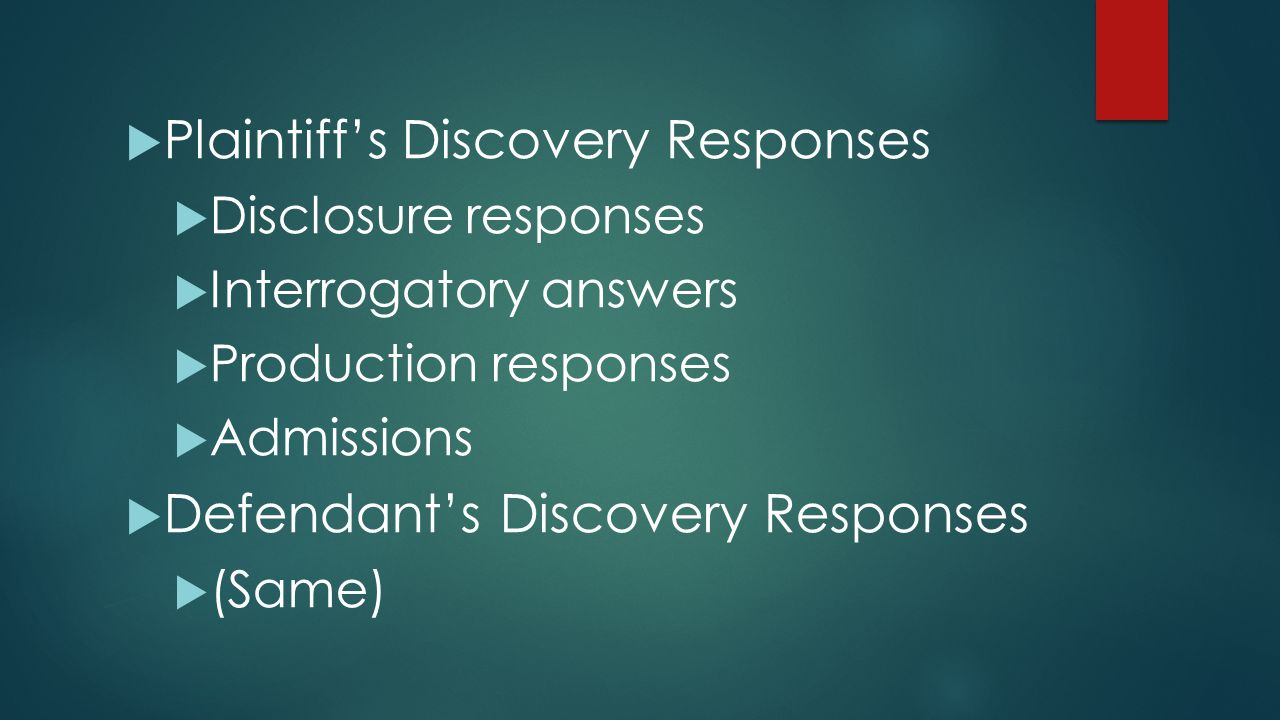 Plaintiff's Discovery Responses