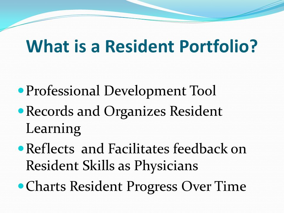 What is a Resident Portfolio
