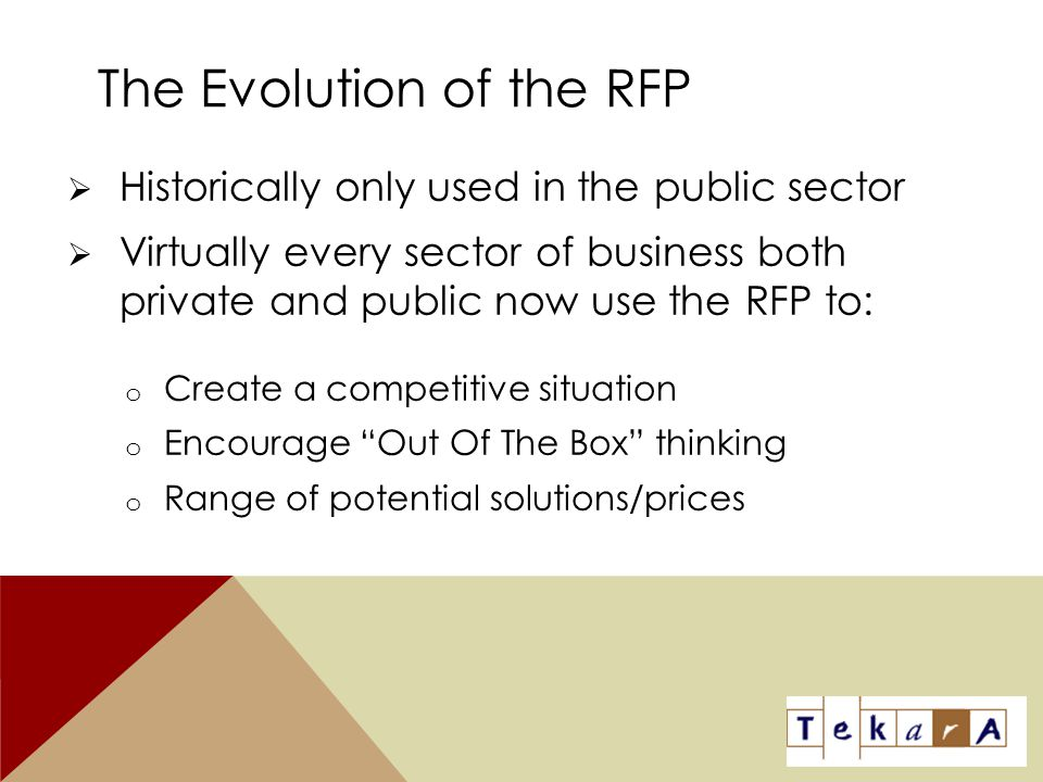 The Evolution of the RFP