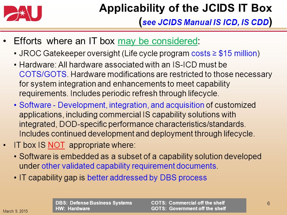 IT Box & Requirements Management