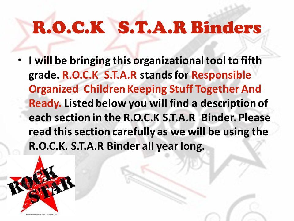 R.O.C.K S.T.A.R Binders