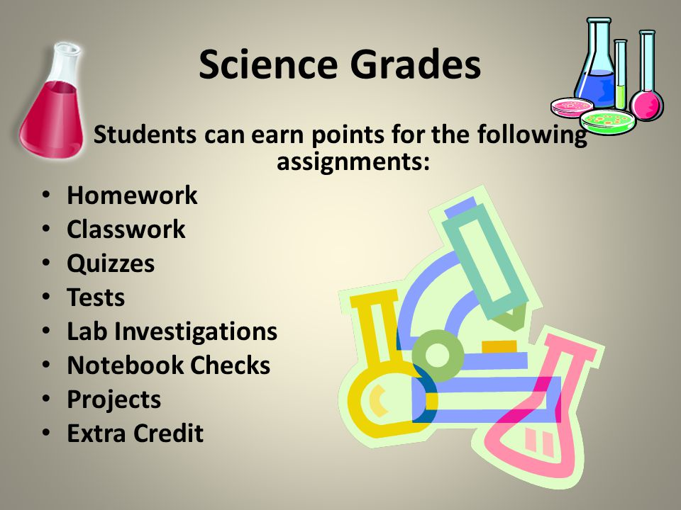 Students can earn points for the following assignments: