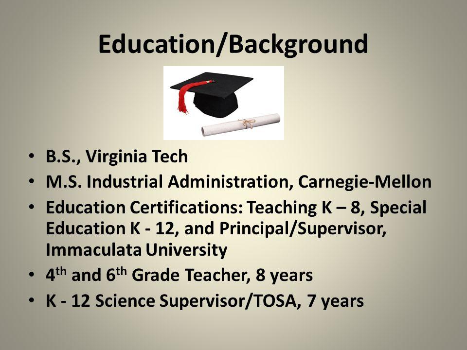 Education/Background