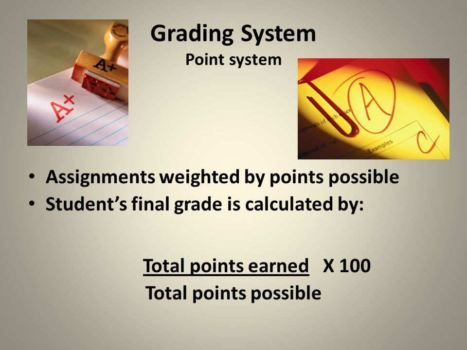 Grading System Point system