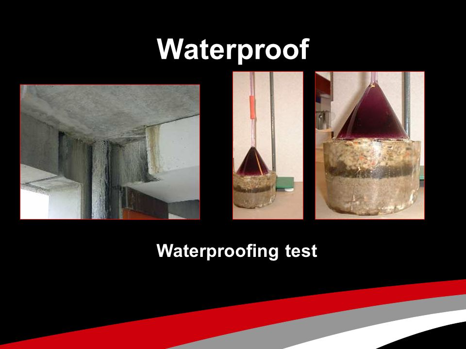 Waterproof Waterproofing test