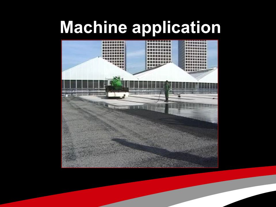 Machine application