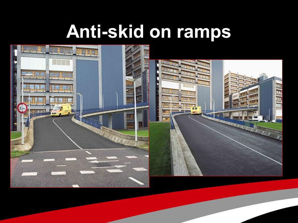 Anti-skid on ramps
