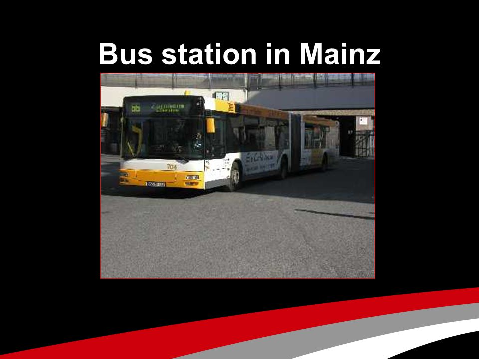 Bus station in Mainz