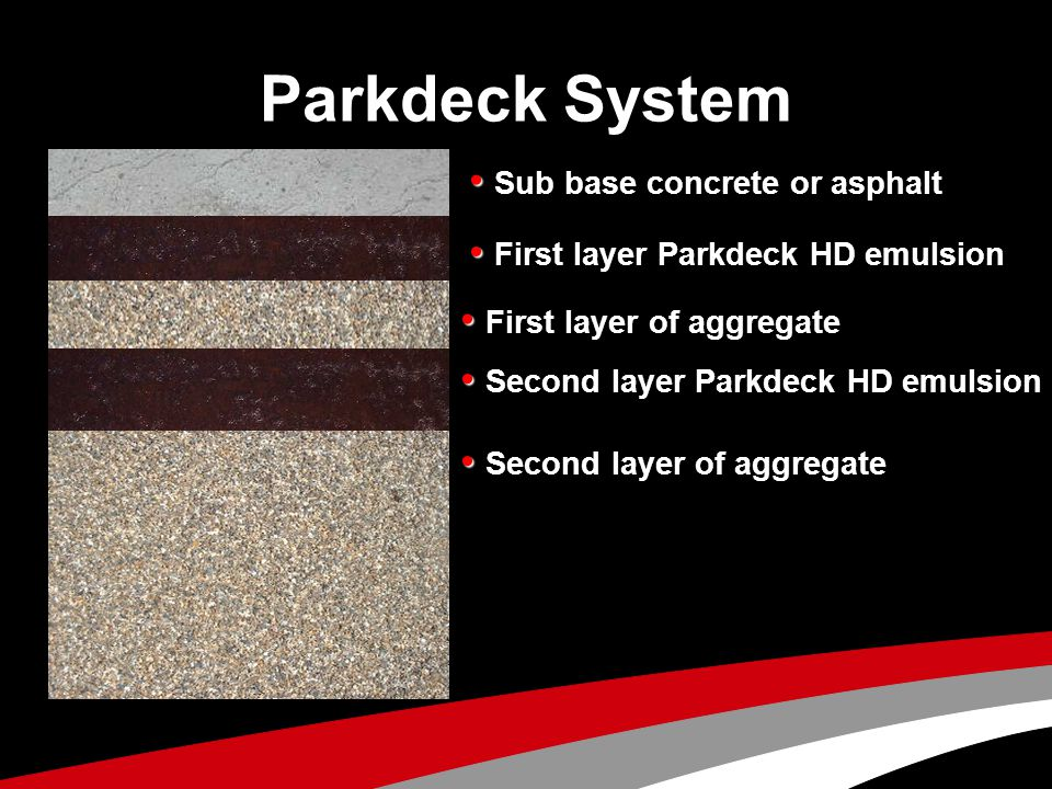 Parkdeck System • First layer of aggregate