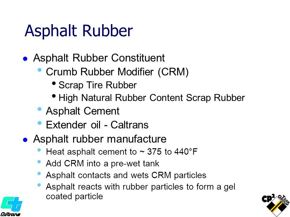 Asphalt Rubber Asphalt Rubber Constituent Asphalt rubber manufacture