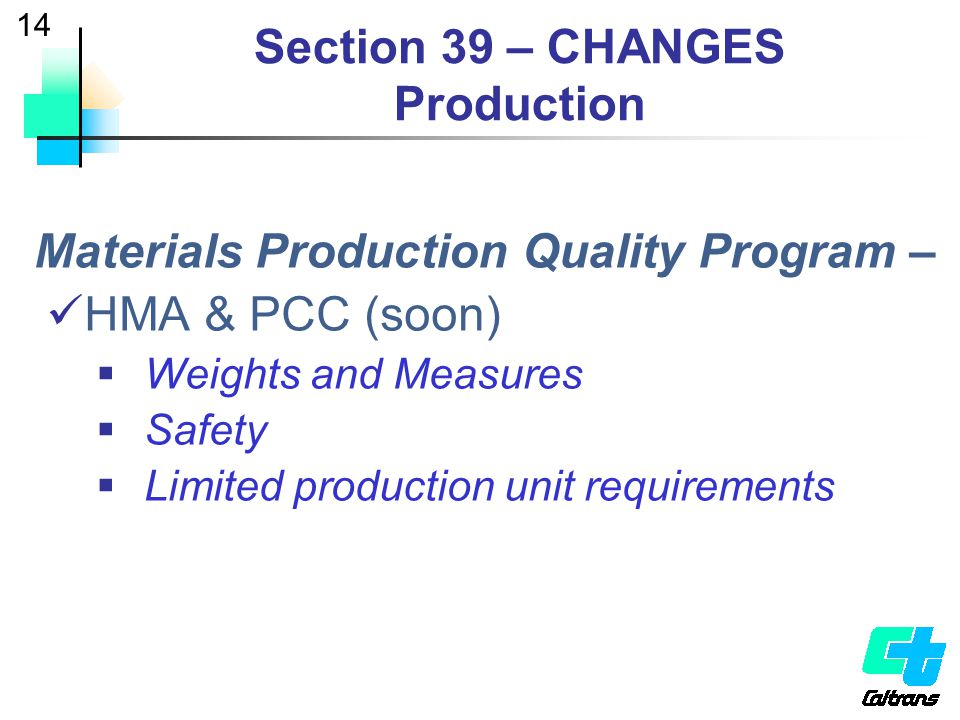 Section 39 – CHANGES Production