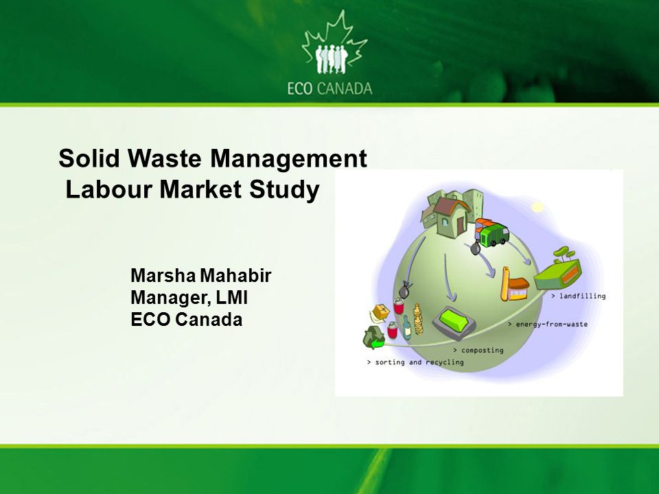 Solid Waste Management Labour Market Study