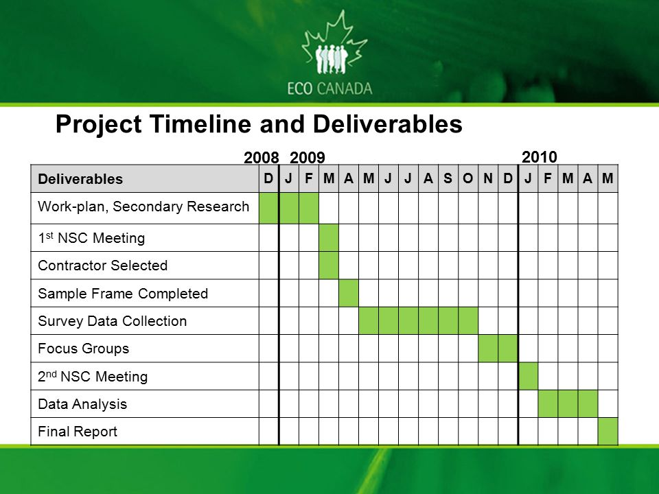 Project Timeline and Deliverables