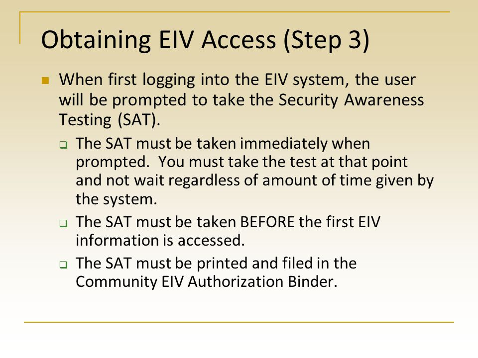 Obtaining EIV Access (Step 3)
