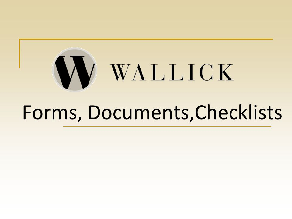 Forms, Documents,Checklists