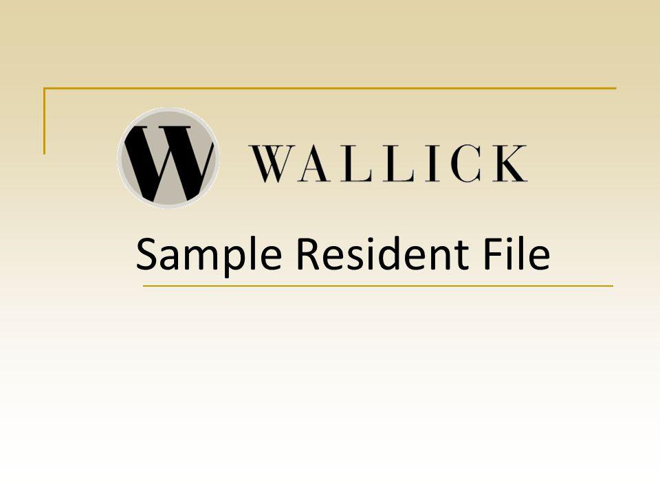 Sample Resident File