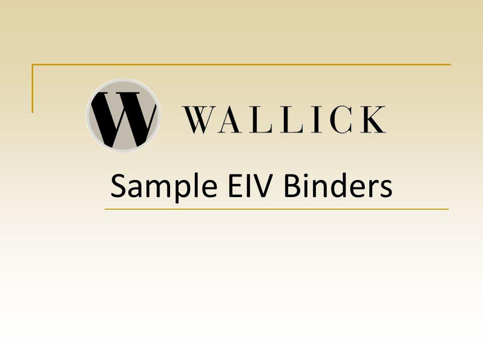 Sample EIV Binders