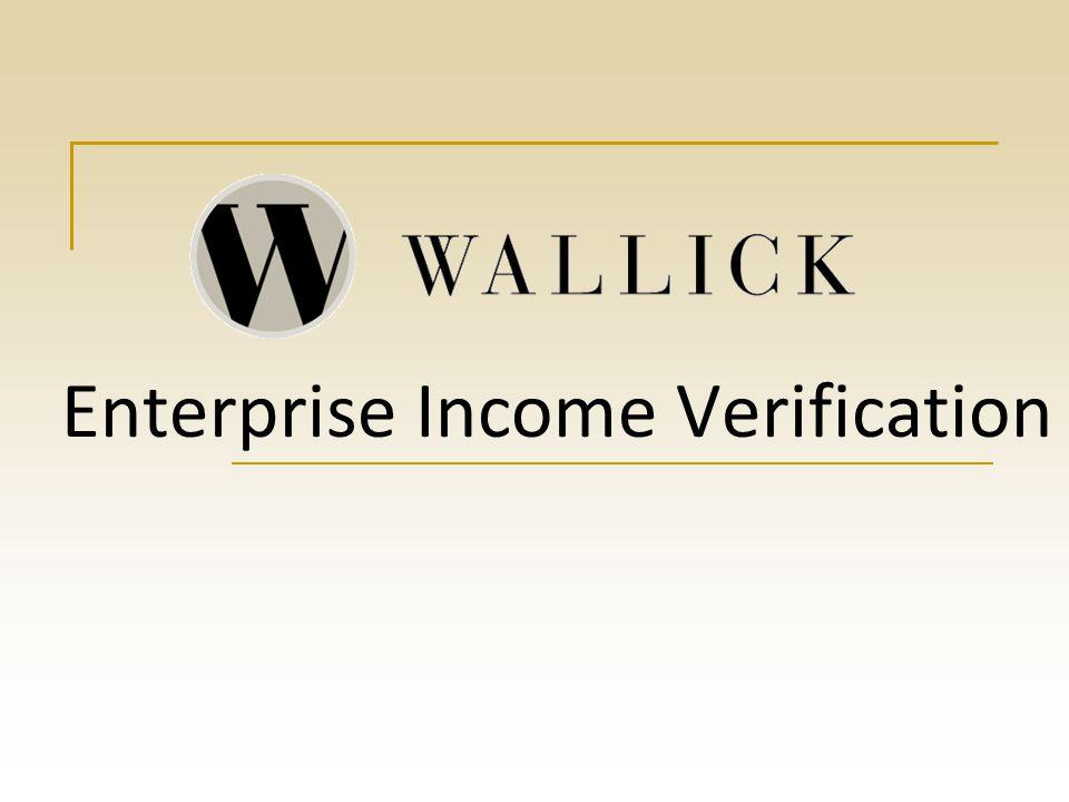 Enterprise Income Verification