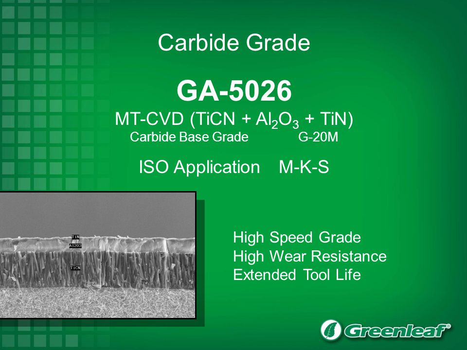 MT-CVD (TiCN + Al2O3 + TiN)