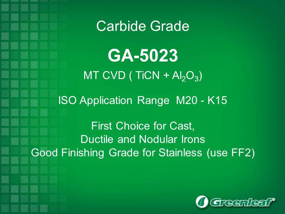 GA-5023 Carbide Grade MT CVD ( TiCN + Al2O3)