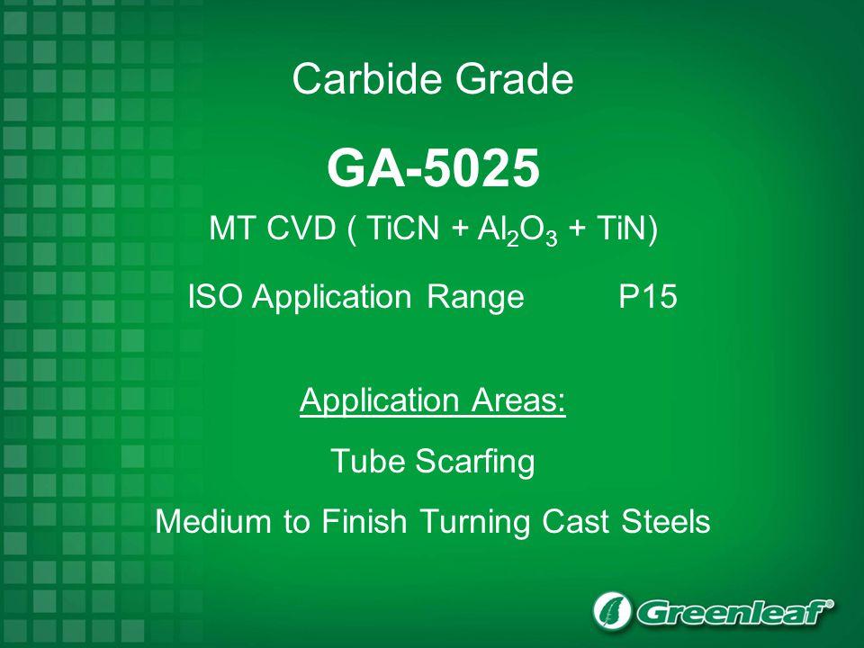 GA-5025 MT CVD ( TiCN + Al2O3 + TiN)