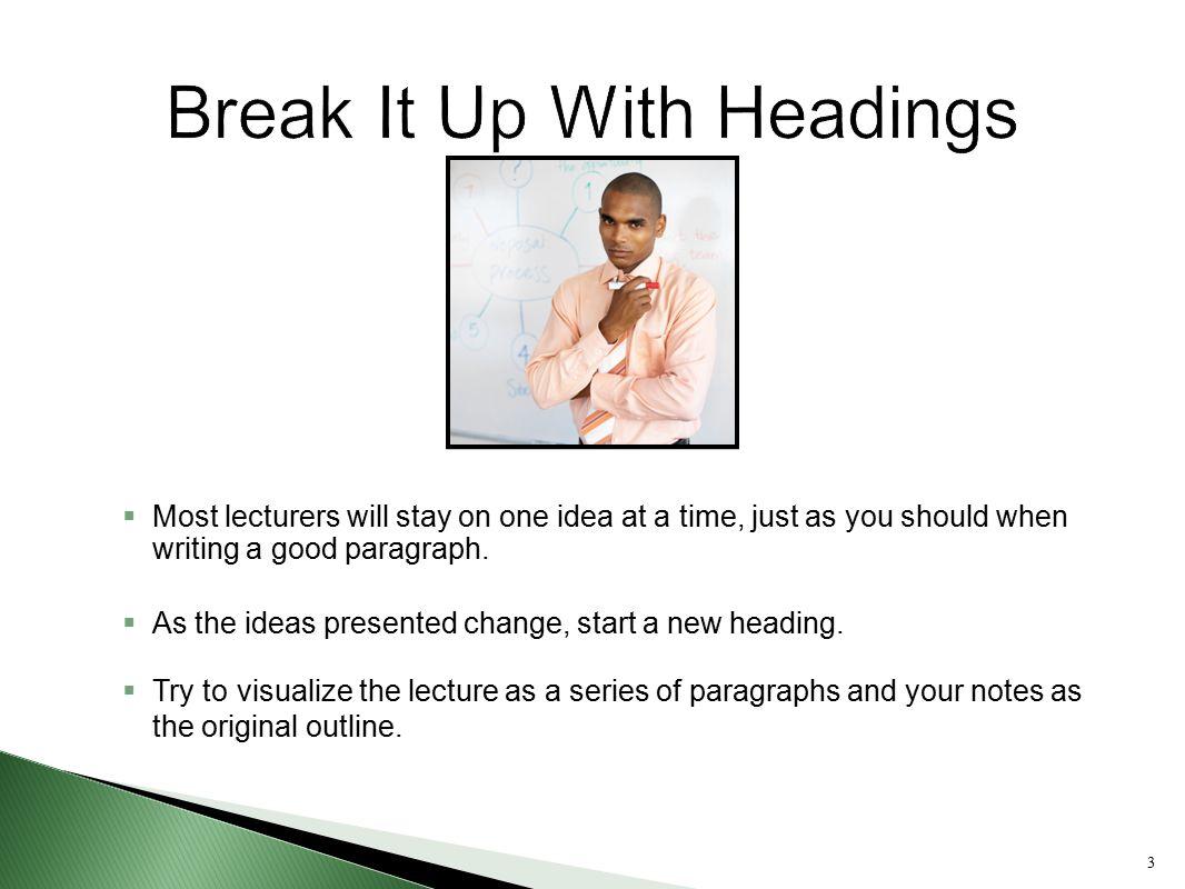 Break It Up With Headings