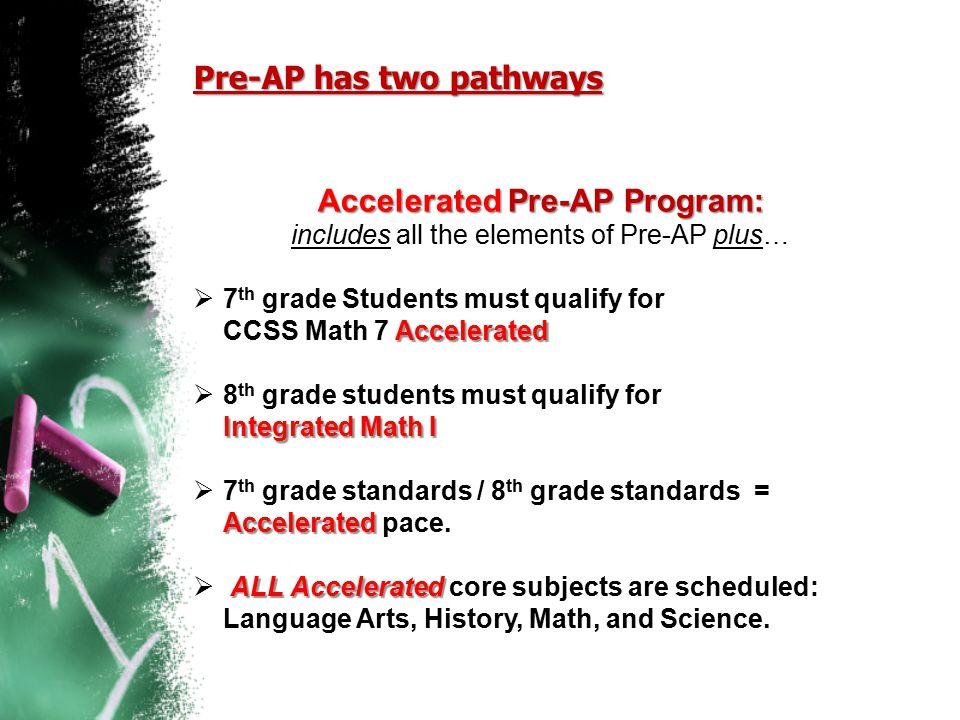 Pre-AP has two pathways