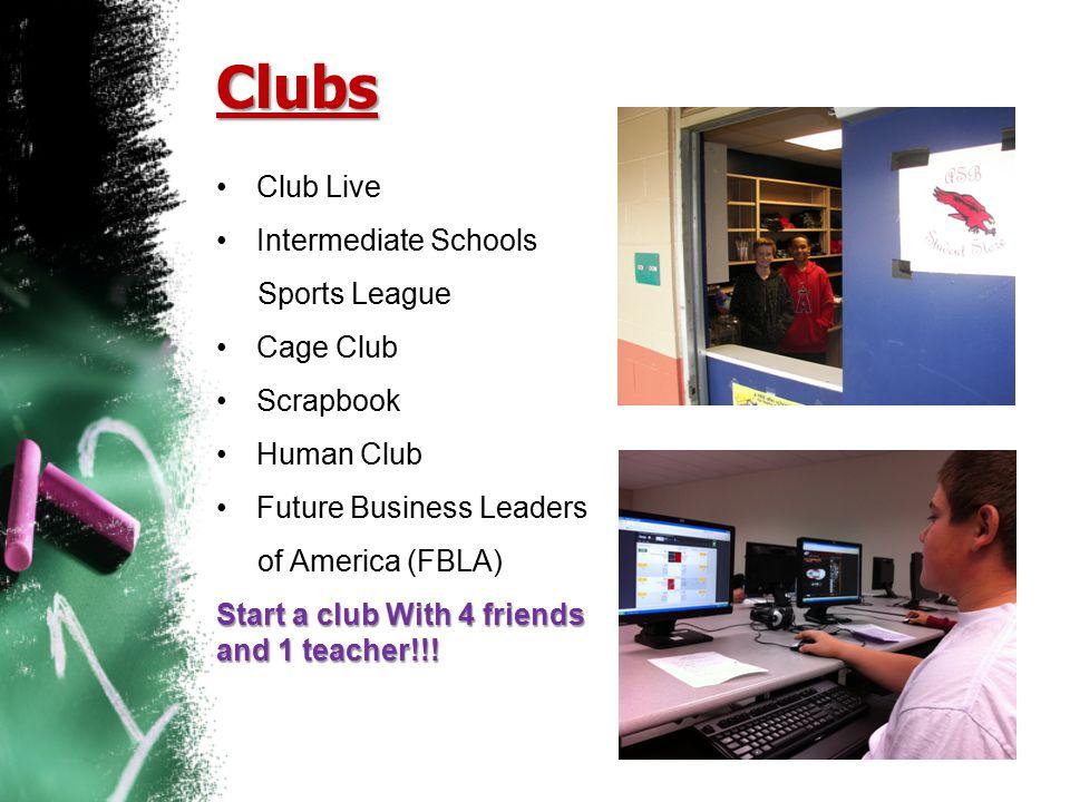 Clubs Club Live Intermediate Schools Sports League Cage Club Scrapbook