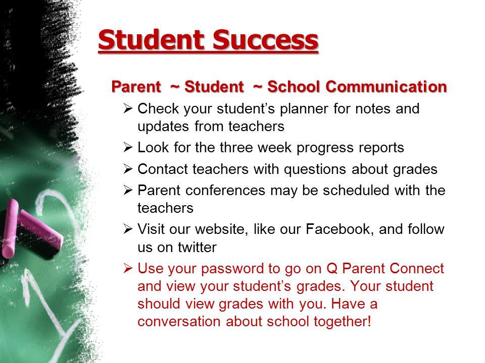 Parent ~ Student ~ School Communication