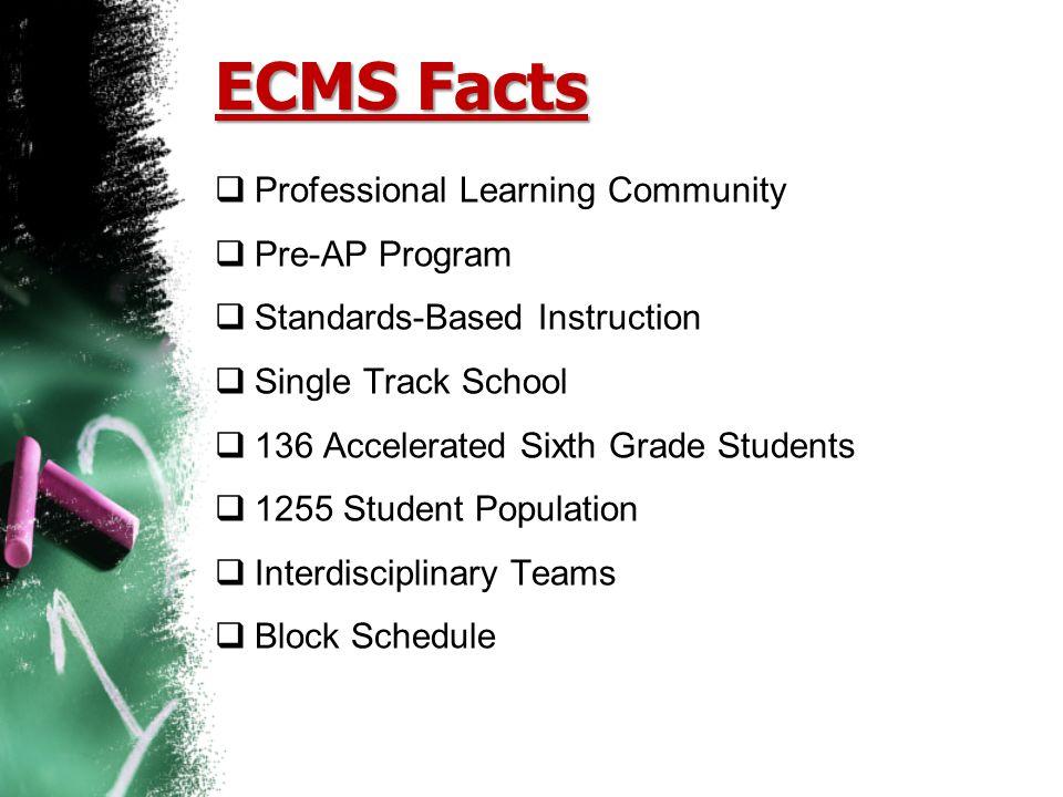 ECMS Facts Professional Learning Community Pre-AP Program