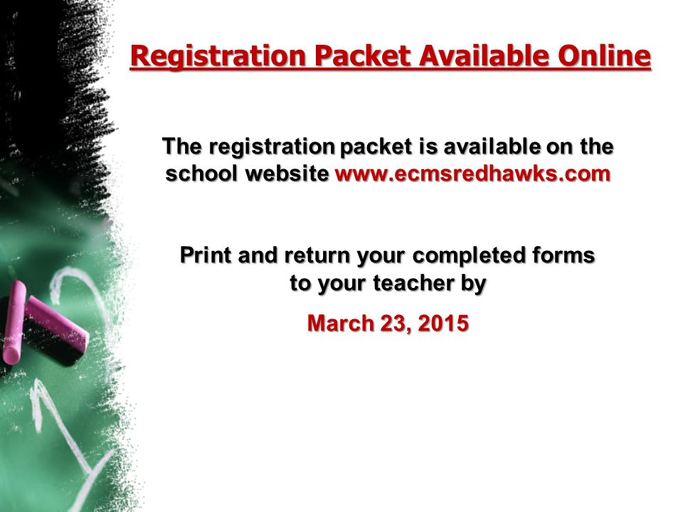 Registration Packet Available Online