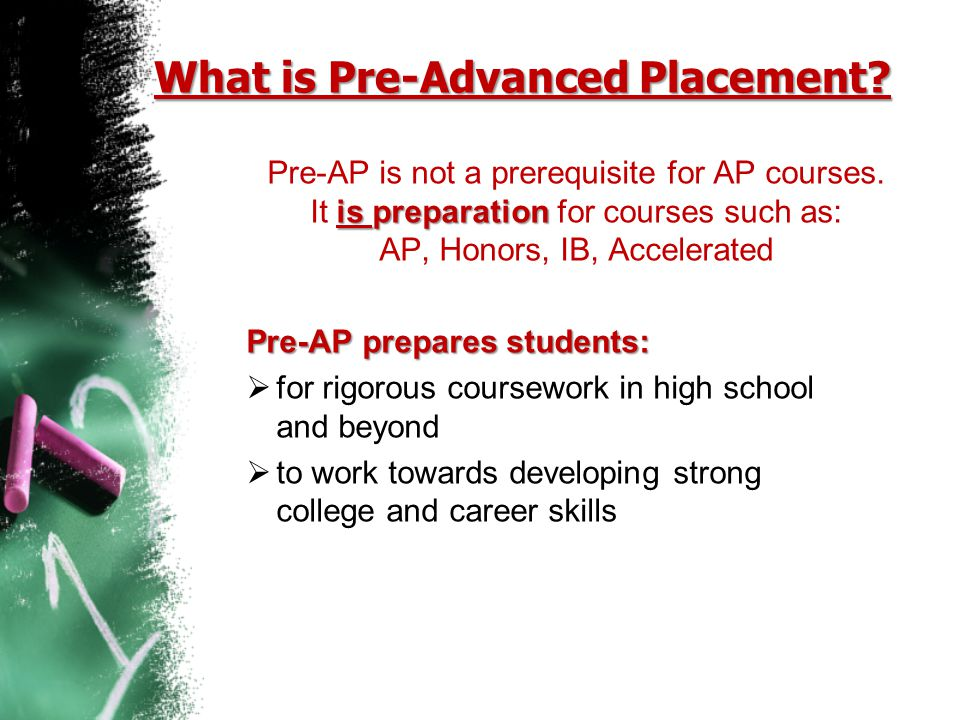 What is Pre-Advanced Placement