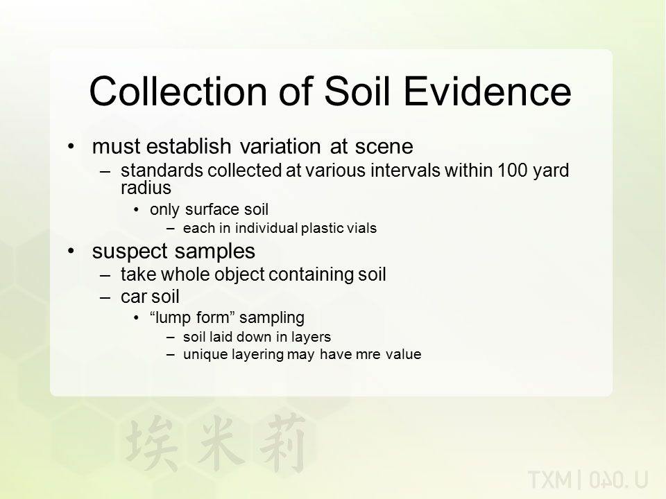 Collection of Soil Evidence