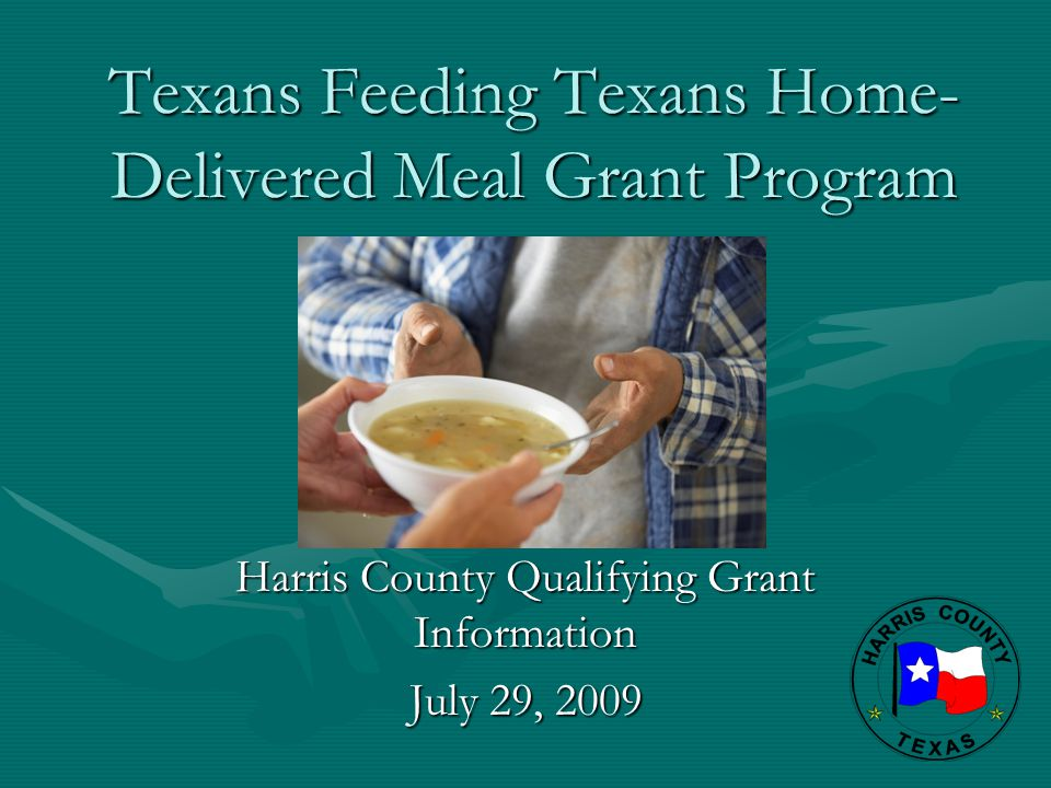 Texans Feeding Texans Home-Delivered Meal Grant Program
