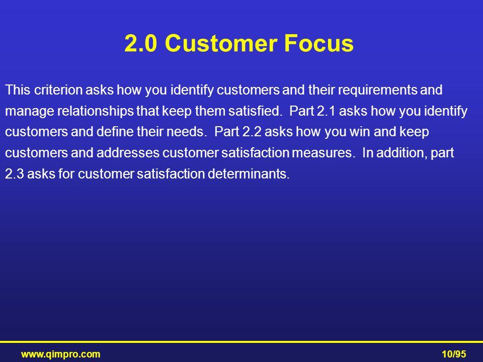 2.0 Customer Focus