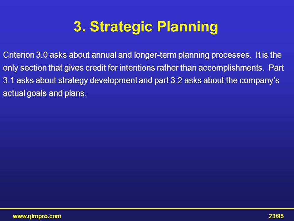 3. Strategic Planning