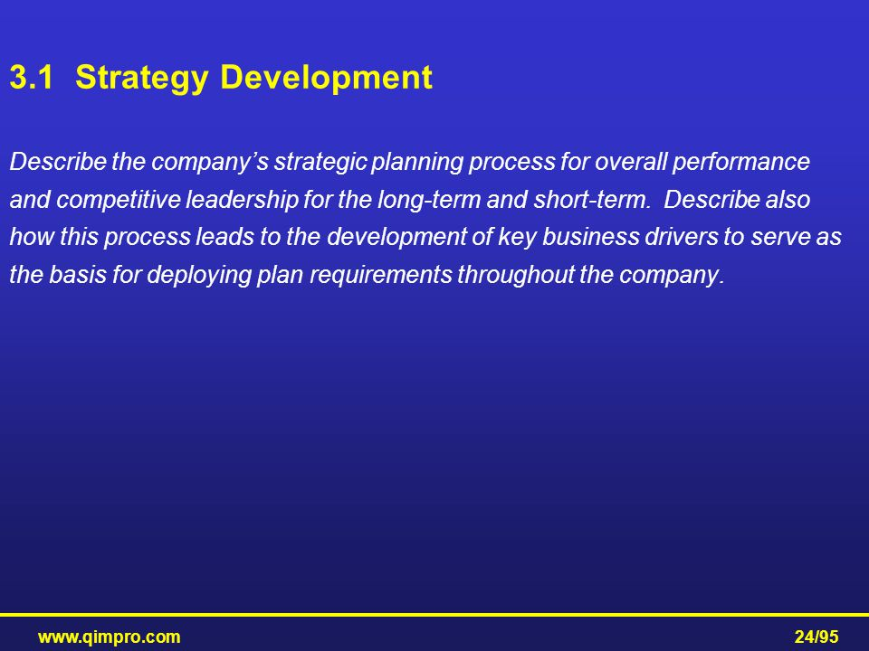 3.1 Strategy Development