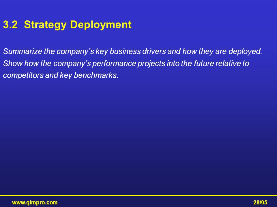 3.2 Strategy Deployment