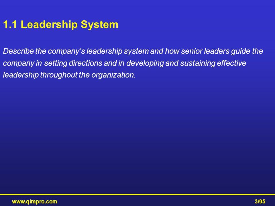 1.1 Leadership System