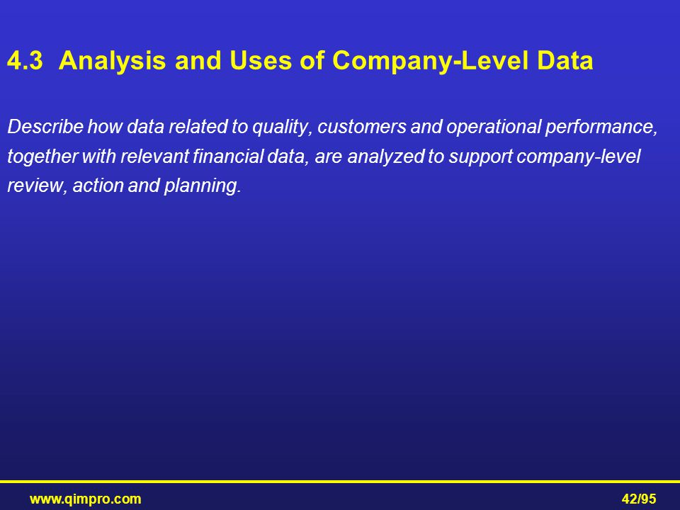 4.3 Analysis and Uses of Company-Level Data