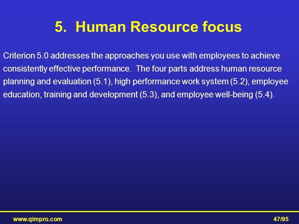 5. Human Resource focus
